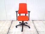 BMA Axia oranje 17043 bureaustoel gebruikt kantoormeubilair lamers arrola vooraanzicht