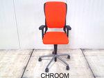 Ahrend 230 oranje hoge rug gebruikt kantoormeubilair bureaustoel gebruikt kantoormeubilair lamers arrola vooraanzicht
