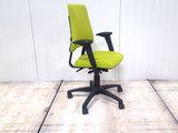 BMA Axia groen hoge rug bureaustoel gebruikt kantoormeubilair lamers arrola zijaanzicht