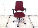 BMA Axia bordeaux rood hoge rug bureaustoel gebruikt kantoormeubilair lamers arrola vooraanzicht
