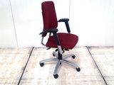 BMA Axia bordeaux rood hoge rug bureaustoel gebruikt kantoormeubilair lamers arrola zijaanzicht