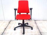 BMA-Axia-hoge-rug-rood bureaustoel gebruikt kantoormeubilair lamers arrola vooraanzicht