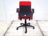 BMA-Axia-hoge-rug-rood bureaustoel gebruikt kantoormeubilair lamers arrola achteraanzicht