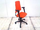 BMA Axia oranje 17043 bureaustoel gebruikt kantoormeubilair lamers arrola zijaanzicht