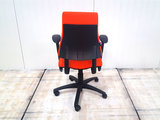 BMA Axia oranje 17043 bureaustoel gebruikt kantoormeubilair lamers arrola achteraanzicht