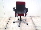 BMA Axia bordeaux rood hoge rug bureaustoel gebruikt kantoormeubilair lamers arrola achteraanzicht