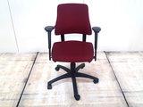 BMA Axia bordeaux rood lage rug bureaustoel gebruikt kantoormeubilair lamers arrola vooraanzicht