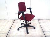BMA Axia bordeaux rood lage rug bureaustoel gebruikt kantoormeubilair lamers arrola zijaanzicht