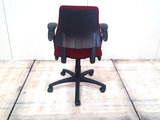 BMA Axia bordeaux rood lage rug bureaustoel gebruikt kantoormeubilair lamers arrola  achteraanzicht