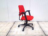 BMA Axia rood lage rug bureaustoel gebruikt kantoormeubilair lamers arrola zijaanzicht