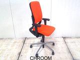 Ahrend 230 oranje hoge rug gebruikt kantoormeubilair bureaustoel lamers arrola zijaanzicht
