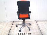 Ahrend 230 oranje hoge rug bureaustoel gebruikt kantoormeubilair lamers arrola achteraanzicht