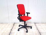 Ahrend 230 17028 rood hoge rug bureaustoel gebruikt kantoormeubilair lamers arrola zijaanzicht