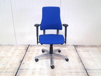 BMA Axia hoge rug nieuw blauw gestoffeerde bureaustoel
