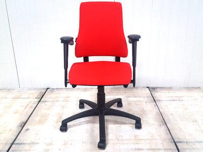 BMA Axia hoge rug nieuw rood gestoffeerde bureaustoel