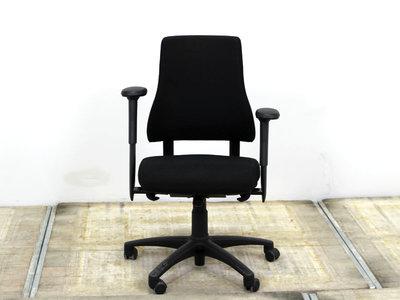 BMA Axia hoge rug nieuw zwart gestoffeerde bureaustoel