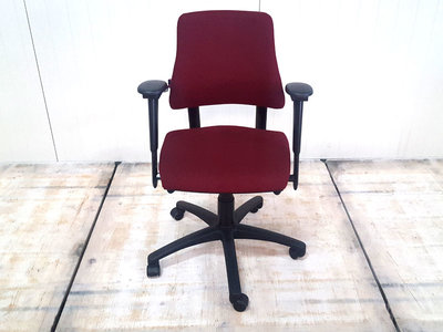 BMA Axia LAGE RUG nieuw bordeaux rood gestoffeerde bureaustoel
