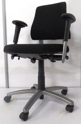 BMA Axia lage rug nieuw gestoffeerde zwarte bureaustoel