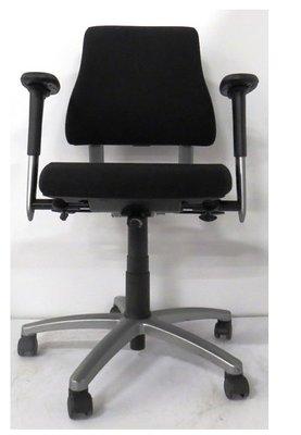 BMA Axia lage rug zwarte bureaustoel