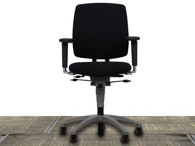 Drabert Entrada Bureaustoel Zwart/Alu gebruikt