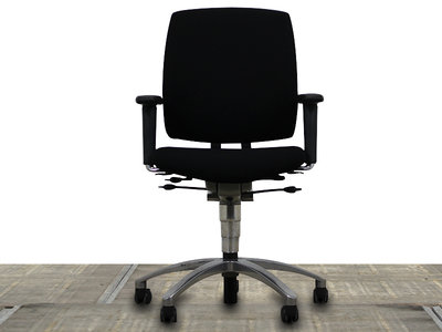 Drabert Entrada Bureaustoel Zwart/Chroom gebruikt