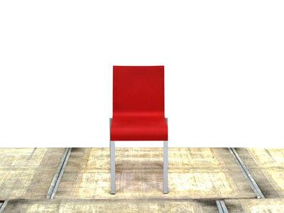 Vitra 03 rode gebruikte kantinestoel