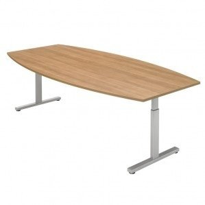 PINTA tonvormige vergadertafel 240x120cm