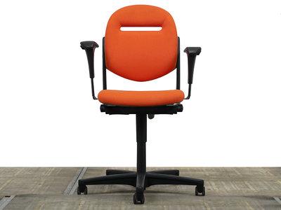 Ahrend 220 Bureaustoel NIEUW Oranje gestoffeerd