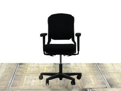 Ahrend bureaustoel 230 lage rug zwart (nieuw gestoffeerd)