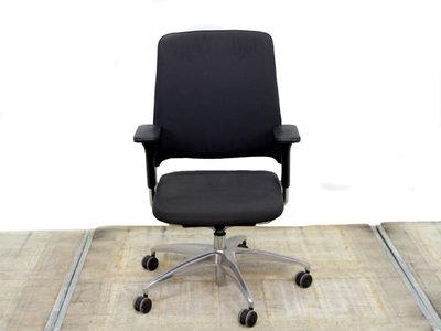Gebruikte bureaustoel Drabert Salida antraciet gestoffeerd gebruikt kantoormeubilair lamers arrola vooraanzicht