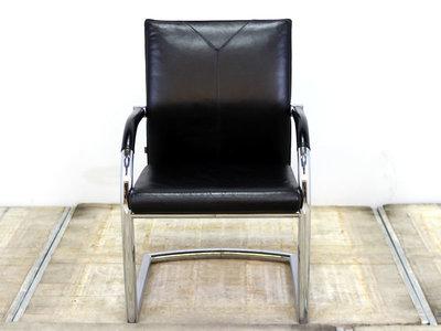 Klober 984 17084 vergaderstoel gebruikt kantoormeubilair lamers arrola vooraanzicht chroom