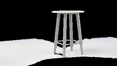 Corner statafel met metalen onderstel