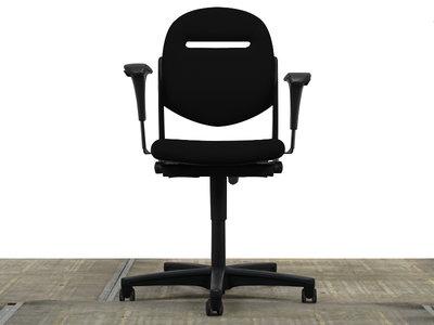 Ahrend 220 Bureaustoel Nieuw Zwart Gestoffeerd