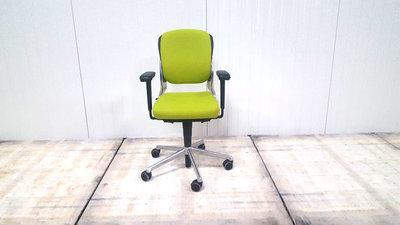 Ahrend 230 lage rug lime bureaustoel gebruikt kantoormeubilair lamers arrola vooraanzicht