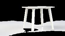 Corner tafel vierkant met metalen onderstel